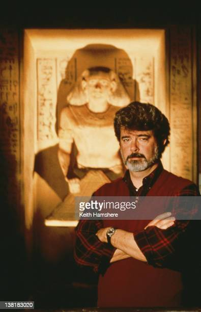 Executive producer George Lucas on the set of the the television series 'The Young Indiana Jones Chronicles', circa 1992.