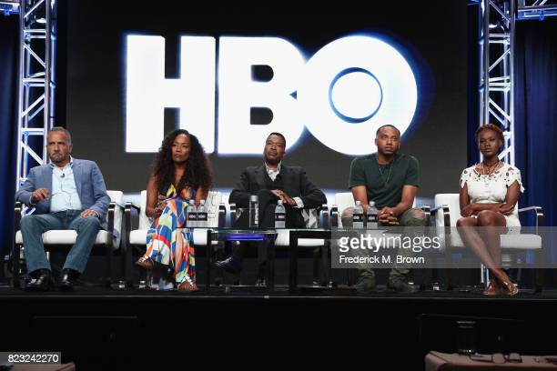 Executive producer George Pelecanos director Sonja Sohn Baltimore PD Chief Melvin Russell activast Kwame Rose and youth organizer Makayla...