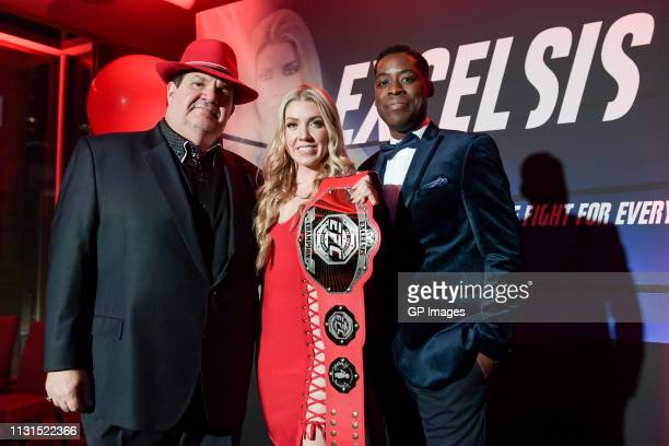 Executive Producer Gino Bravo Actress Karlee Rose and Executive Producer and Director Jaze Bordeaux attend the Italian Party presents Excelsis Movie...