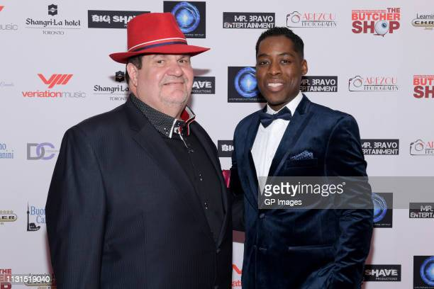Executive Producer Gino Bravo and Executive Producer and Director Jaze Bordeaux attend the Italian Party presents Excelsis Movie Sneak Peek at...