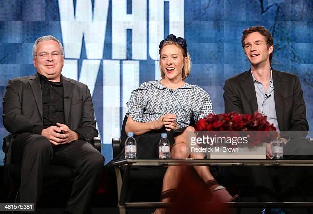 Executive Producer Glen Morgan, actors Chloe Sevigny and James D'Arcy and Executive Producer Brian Grazer speak onstage during the 'Lifetime - Those...