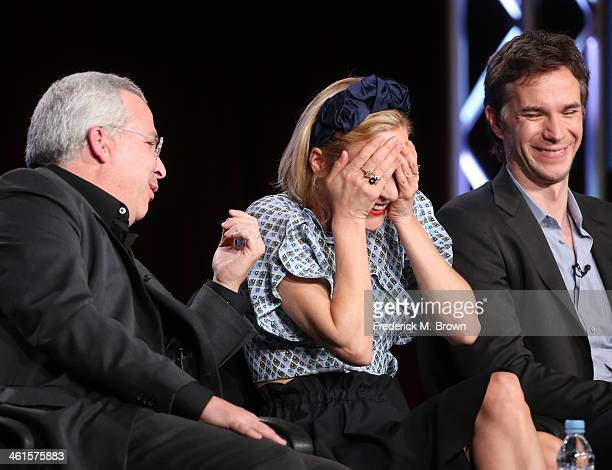 Executive Producer Glen Morgan and actors Chloe Sevigny and James D'Arcy speak onstage during the 'Lifetime - Those Who Kill' panel discussion at the...