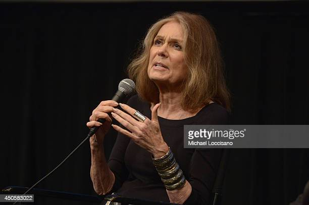 Executive producer Gloria Steinem takes part in a QA following the HBO Documentary Private Violence NY Premiere At HRWFF at Walter Reade Theater on...