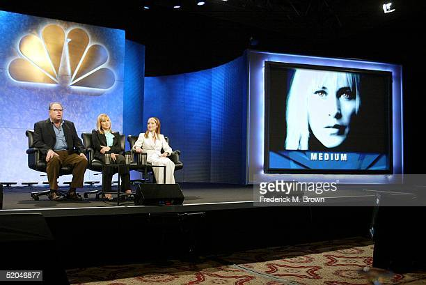Executive Producer Gordon Caron Actor Patricia Arquette and Allison DuBois a Real Life Medium attends the panel discussion for the television show...