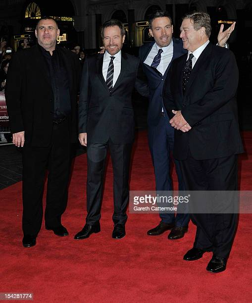 Executive producer Graham King actor Bryan Cranston Director and actor Ben Affleck and actor John Goodman attend the Argo premiere during the 56th...