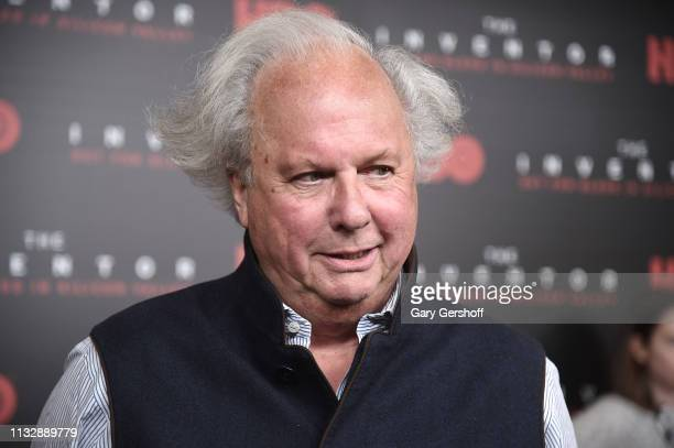 Executive Producer Graydon Carter attends the premiere of 'The Inventor Out For Blood in Silicon Valley' at Time Warner Screening Room on February 28...