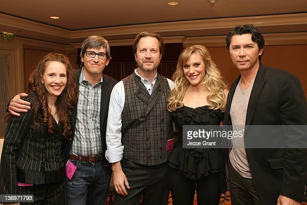 Executive producer Greer Shephard, executive producers/writers Hunt Baldwin, John Coveny, actress Katee Sackhoff and actor Lou Diamond Phillips...