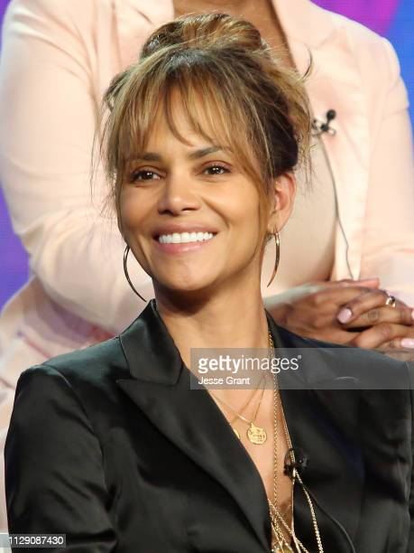 Executive producer Halle Berry attends the Viacom Winter TCA 2019 panel on February 11 2019 in Pasadena California