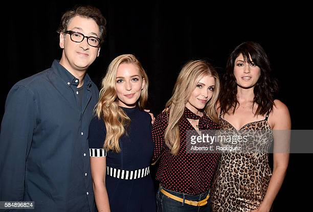Executive producer Harry Elfont actress Jessica Rothe executive producer Deborah Kaplan and actress Scout Durwood attend MTV TCA Summer 2016 at the...