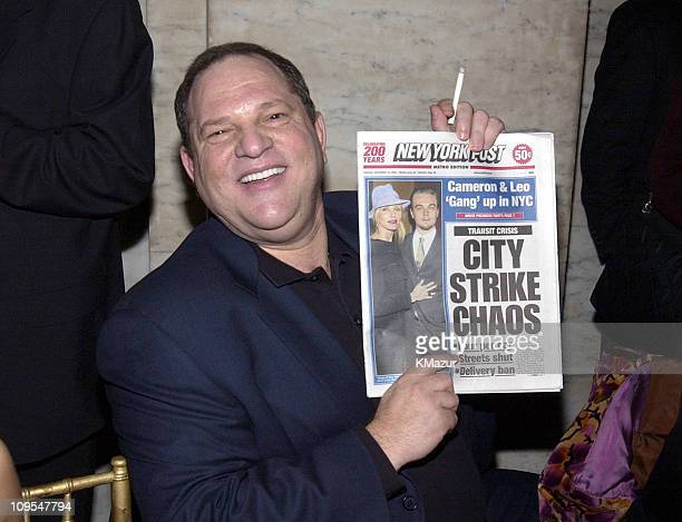 Executive producer Harvey Weinstein of Miramax during 'Gangs of New York' World Premiere AfterParty at New York City Public Library 42nd Street in...