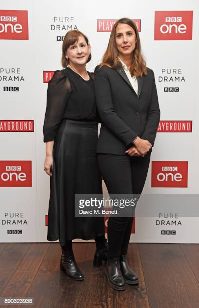 Executive Producer Heidi Thomas and director Vanessa Caswill attend a special screening of new BBC drama 'Little Women' at The Soho Hotel on December...