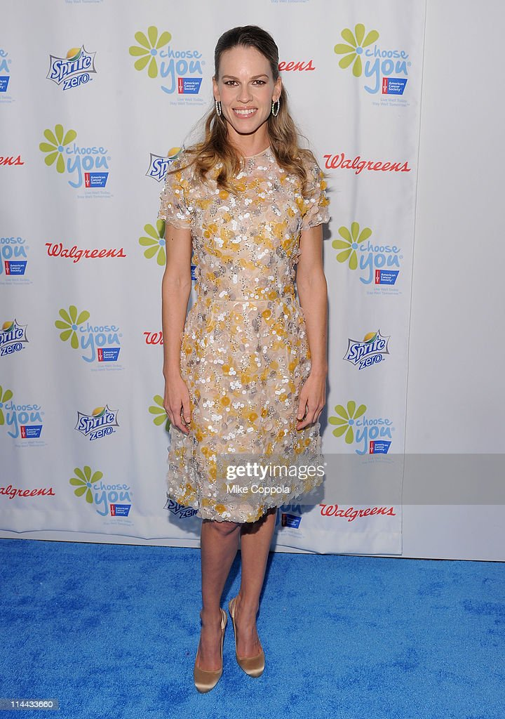 "The American Cancer Society And Executive Producer Hilary Swank Preview ""Choose You"" At Blue Carpet Event : News Photo"