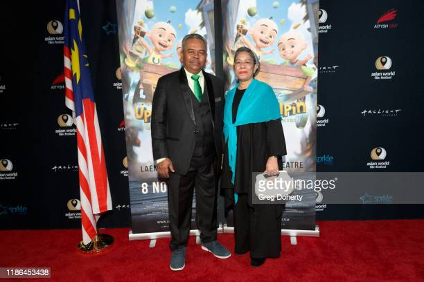 """Executive Producer Hj Burhanuddin Bin Md Radzi and Producer Hjh Ainoon Bt Afitt attend """"Upin Ipin"""" the First Malaysian Animated Film Submitted to..."""