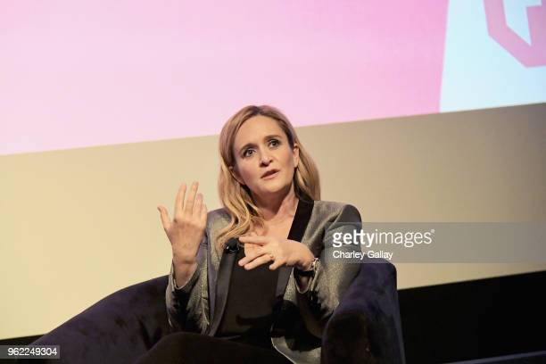Executive Producer Host Samantha Bee speaks onstage during 'Full Frontal with Samantha Bee' FYC Event Los Angeles at The WGA Theater on May 24 2018...