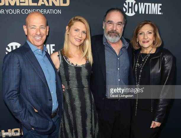 Executive producer Howard Gordon actors Claire Danes and Mandy Patinkin and executive producer Lesli Linka Glatter attend the FYC event for...