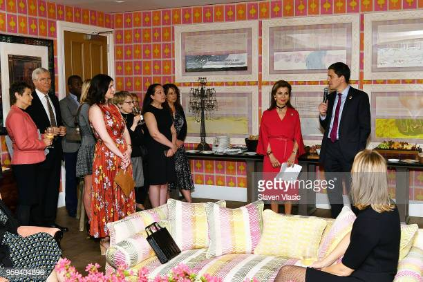 Executive producer HRH Princess Firyal of Jordan and IRC President and CEO David Miliband attend 'This is Home A Refugee Story' New York Premier...