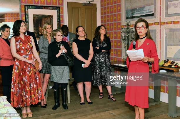 Executive producer HRH Princess Firyal of Jordan attends 'This is Home A Refugee Story' New York Premier Screening at Crosby Street Hotel on May 16...