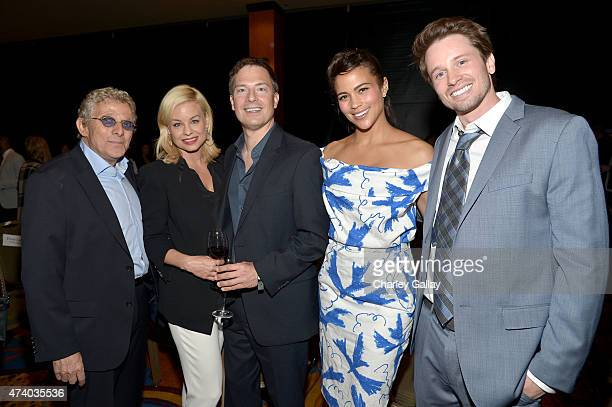 Executive Producer Ian Sander actress Jessica Collins director Michael Cooney actors Paula Patton and Tyler Ritter attend The Marriott Content...