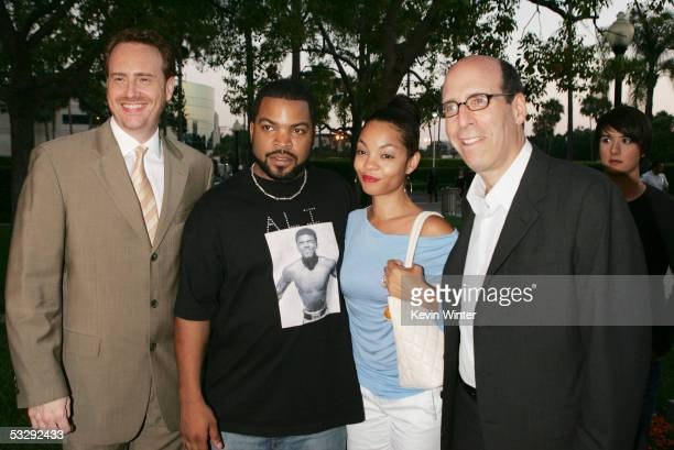 Executive Producer Ice Cube and his wife Kimberly arrive with Showtime's President of Entertainment Robert Greenblatt and Chairman and CEO Matt Blank...