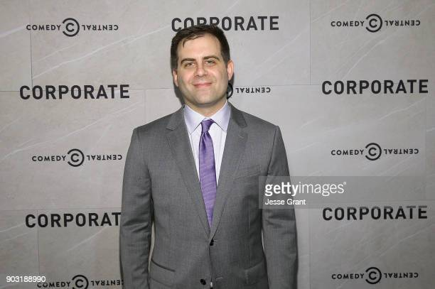Executive producer Jake Weisman attends Comedy Central's 'Corporate' Premiere Party at OUE Skyspace LA on January 9 2018 in Los Angeles California