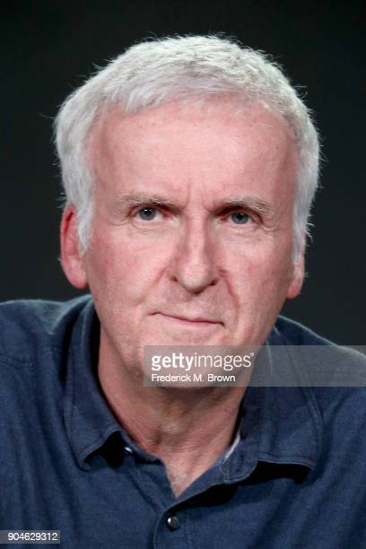 Executive producer James Cameron of 'AMC Visionaries James Cameron's Story of Science Fiction' speaks onstage during the AMC Networks portion of the...