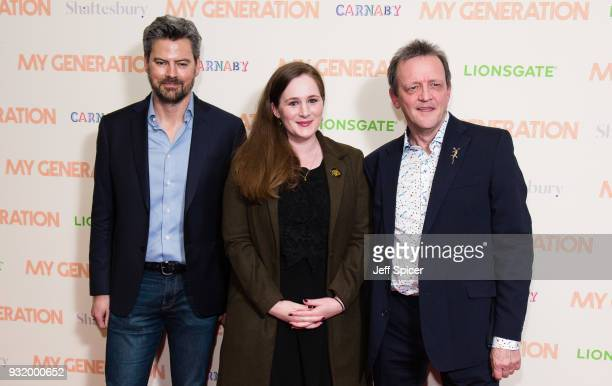 Executive producer James Clayton producer Fodhla Cronin O'Reilly and director David Batty attend a special screening of My Generation at BFI...