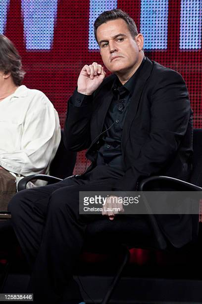 Executive producer James Flynn of The Borgias speaks at the 2011 Showtime Winter TCA Panel at The Langham Huntington Hotel and Spa on January 14 2011...