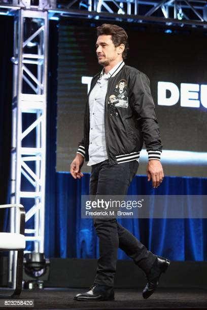 Executive producer James Franco of 'The Deuce' speaks onstage during the HBO portion of the 2017 Summer Television Critics Association Press Tour at...