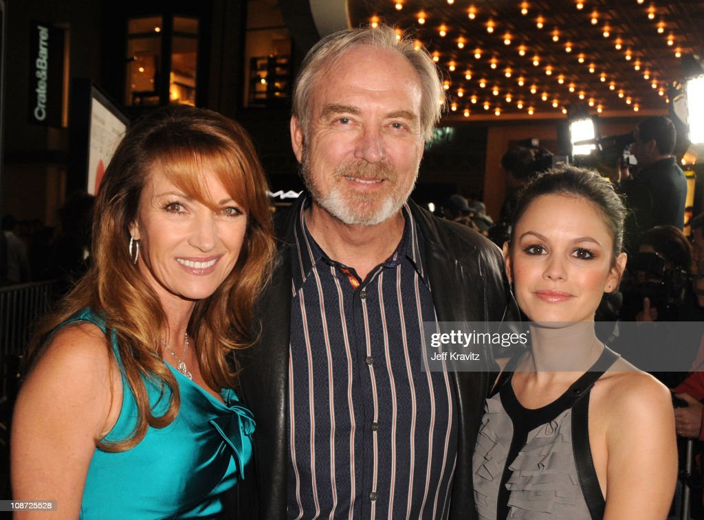 Executive Producer Jane Seymour, Director James Keach and actress Rachel Bilson arrive at the Los Angeles premiere of 'Waiting for Forever' held at Pacific Theaters at the Grove on February 1, 2011 in Los Angeles, California.