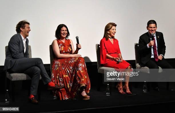 Executive producer Jason Blum director Alexandra Shiva executive producer HRH Princess Firyal of Jordan and IRC President and CEO David Miliband...