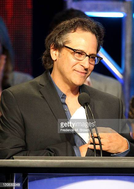 """Executive Producer Jason Katims accepts Program of the Year Award for """"Friday Night Lights"""" onstage during the 27th Annual Television Critics..."""