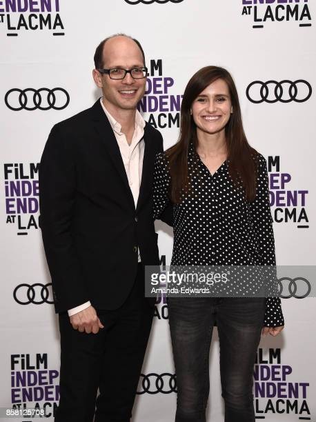 Executive producer Jason SpingarnKoff and director Elaine McMillion Sheldon attend the Film Independent at LACMA special screenings of 'Heroin' and...