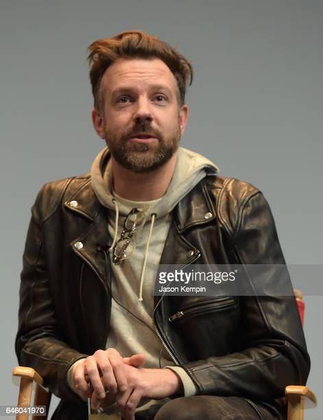 Executive producer Jason Sudeikis speaks during a QA after an exclusive Screening Of 'Detroiters' starring Sam Richardson and Tim Robinson hosted by...