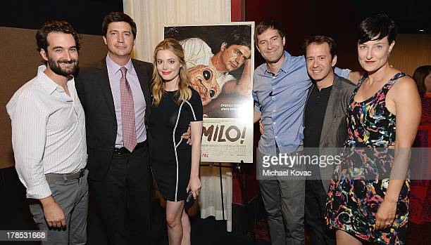 Executive producer Jay Duplass actor Ken Marino actress Gillian Jacobs executive producer Mark Duplass director Jacob Vaughan and producer Adele...
