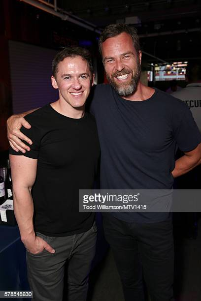 Executive producer Jeff Davis and actor JR Bourne attend the MTV Fandom Awards San Diego at PETCO Park on July 21, 2016 in San Diego, California.