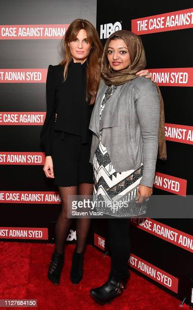 Executive producer Jemima Khan and participant/producer Rabia Chaudry attend NY premiere of HBO's The Case Against Adnan Syed at PURE NON FICTION on...