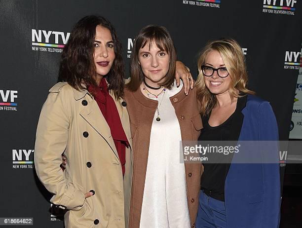 Executive Producer Jennifer Konner actress Lena Dunham and Vice President of HBO Programming Kathleen McCaffrey attend the creative keynote 'A...