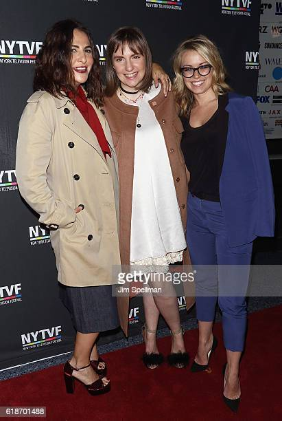 Executive Producer Jennifer Konner actress Lena Dunham and Vice President of HBO Programming Kathleen McCaffrey attend the 12th annual New York...
