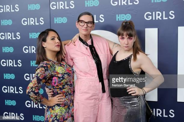 Executive Producer Jennifer Konner Fashion Designer Jenna Lyons and Actress Lena Dunham attend the New York Premiere of the Sixth Final Season of...