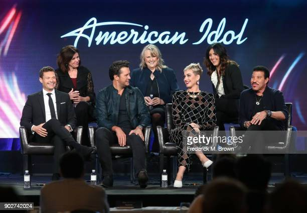 Executive producer Jennifer Mullin showrunner/executive producer Trish Kinane coexecutive producer Megan Michaels Wolflick host Ryan Seacrest judges...