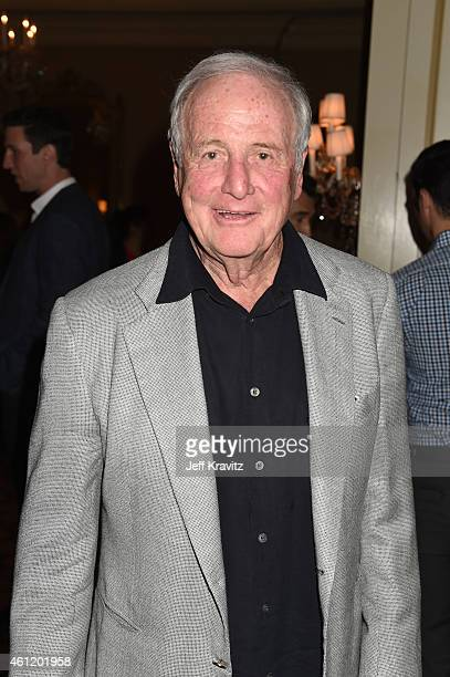 "Executive Producer Jerry Weintraub waits in the lobby after ""The Brink"" panel as part of the 2015 HBO Winter Television Critics Association press..."