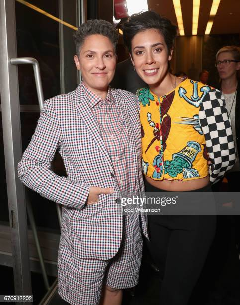 Executive producer Jill Soloway and actor Roberta Colindrez attends the red carpet premiere of Amazon's forthcoming series 'I Love Dick' at The...