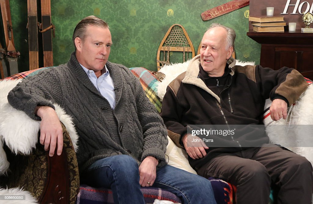 Executive producer Jim McNiel (L) and director Werner Herzog from the film ''Lo and Behold Reveries of the Connected World' attended The Hollywood Reporter 2016 Sundance Studio At Rock & Reilly's - Day 3 - 2016 Park Cityon January 24, 2016 in Park City, Utah.