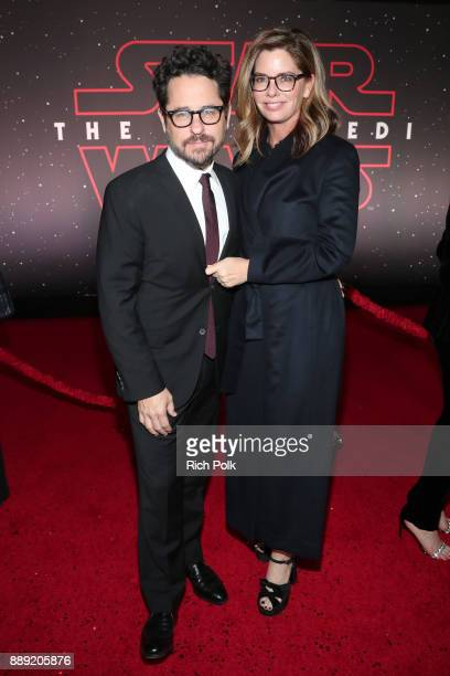 Executive producer JJ Abrams and Katie McGrath at the world premiere of Lucasfilm's Star Wars The Last Jedi at The Shrine Auditorium on December 9...