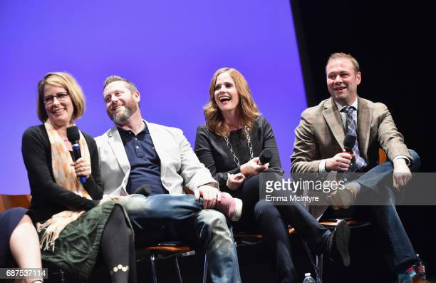 Executive producer Jo Miller Executive producer Miles Kahn CoExecutive Producer Alison Camillo and Supervising Producer Pat King speak onstage at the...