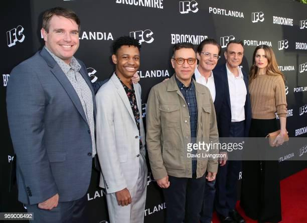 Executive producer Joel ChurchCooper and actors Tyrel Jackson Williams Fred Armisen Kyle MacLachlan Hank Azaria and Amanda Peet attend the...