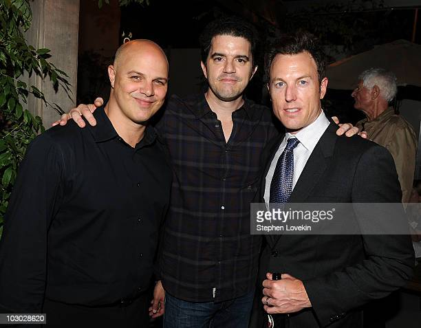 Executive Producer Joey Rappa director Aaron Schneider and producer Dean Zanuck attend The Cinema Society Sony Alpha Nex screening after party for...