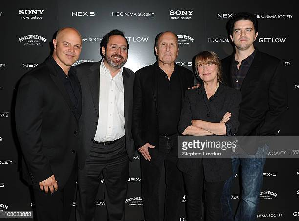 Executive producer Joey Rappa Sony Pictures Classics copresident Michael Barker actor Robert Duvall actress Sissy Spacek and director Aaron Schneider...
