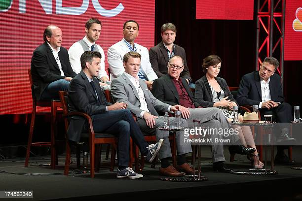 Executive Producer John Davis actors Ryan Eggold and Harry Lennix and Executive Producer John Fox Executive Producer Jon Bokenkamp actors Diego...