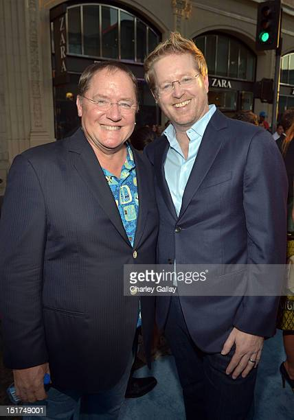 Executive producer John Lasseter and Director/ Writer Andrew Stanton arrive at the premiere of Disney Pixar's Finding Nemo Disney Digital 3D at the...